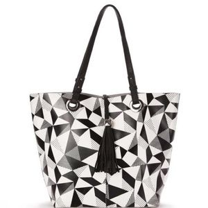 Dolce Vita Leather Geometric Tote GREAT CONDITION
